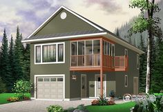 Full technical sheet and illustration of our house plan, garage plan, shed plan or playhouse. Various categories and house plans available for any budget. Garage Apartment Plans, Garage Apartments, Apartment Bedrooms, Above Garage Apartment, Small House Plans, House Floor Plans, Guest House Plans, Plan Garage, Garage Ideas