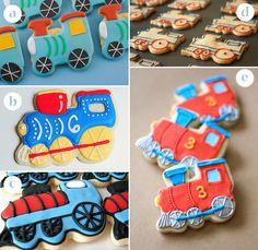 train theme birthday partky   Train Cookies - Train Birthday Party Favors   KandyOh.com