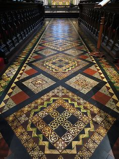 Tiled floor of the choir. Dublin Ireland, Ireland Travel, St Patricks Cathedral Dublin, Mosaic Floors, Stone Mosaic, Gothic Architecture, Floor Design, Cathedrals, Day Tours