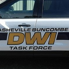 Asheville Police Department DWI Task Force Lettering