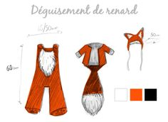 PLAN-déguisement-renard Costume Prince, Fox Costume, Fantastic Mr Fox, Diy Costumes, Costume Ideas, Sewing Patterns, Cosplay, Crafts, Clothes