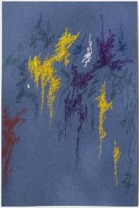 Clyfford Still, pastel on paper, 18 x 12 in. x cm), New Windsor, Maryland. Abstract Expressionism, Abstract Art, Clyfford Still, New Windsor, Pastel Watercolor, Mark Rothko, Jackson Pollock, Mark Making, Be Still