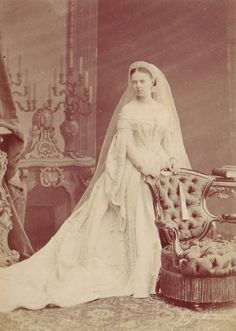 GRAND DUCHESS MARIE ALEXANDROVNA OF RUSSIA - Worn on the 23 January 1874 on the occasion of her marriage to Prince Alfred, Duke of Saxe-Coburg and Gotha, son of Victoria, Queen of England.