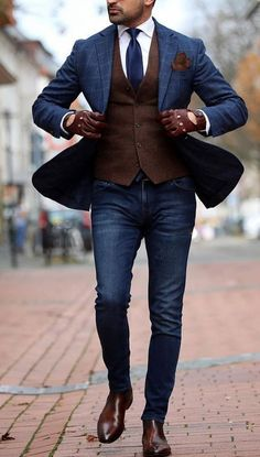 7 Menswear Fashion Myths That Are Completely Wrong. Should a guy combine black a. 7 Menswear Fashion Myths That Are Completely Wrong. Should a guy combine black and brown, his belt with his shoes, o Blazer Outfits Men, Blazer With Jeans, Men Blazer, Casual Blazer, Prom Suit Outfits, Business Casual Outfits Men, Boy Outfits, Best Casual Shirts, Casual Shoes
