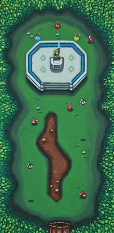 """SuperVideoGameLand sur Twitter : """"Link to the Past 12 x 24 acrylic on canvas http://t.co/28r7sGcMuu"""""""