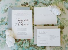 Ocean inspired invitations: http://www.stylemepretty.com/florida-weddings/santa-rosa-beach/2015/03/12/intimate-santa-rosa-beach-wedding/ | Photography: Jennifer Blair - http://www.jenniferblairphotography.com/