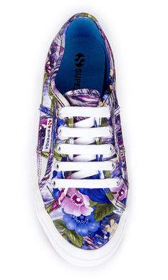 Floral-printed canvas sneakers by Superga