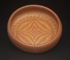 "Shono Shounsai (Japanese, 1904-1974): ""Peerless"" basket, 1953, madake bamboo (Phyllostachys bambusoides); woven in rinkû (scale-armor) and ajiro (twill) styles. Museum of Fine Arts, Boston. Museum"