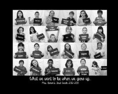 Individually, at end of each school year, take picture of child holding sign of what they wish to be when they grow up. See how it changes over the years. End Of School Year, End Of Year, Beginning Of School, School Fun, School Teacher, Primary School, School Ideas, Teacher Gifts From Class, Survival Kit For Teachers