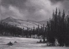Moody Mtn. by Mark Saenger Oil ~ 6 x 8