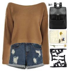"""SheIn 9"" by scarlett-morwenna ❤ liked on Polyvore featuring Moleskine and vintage"