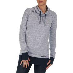 Bench Funnelneck Sweatshirt (41 NZD) ❤ liked on Polyvore featuring tops, hoodies, sweatshirts, total eclipse, bench sweatshirt, bench top, long sleeve sweatshirt and long sleeve tops