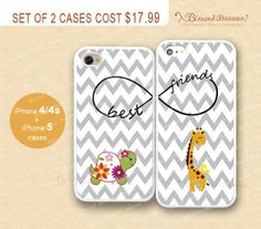 Best friends, infinity,Chevron,Turtle & giraffe/deer iPhone 4/4s Case, iPhone 5 Case, iPhone Hard Plastic /Soft Rubber Case