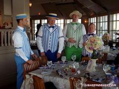 Barbershop Quartet serenading at a wedding reception
