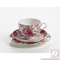 Maxwell, Royal Old England, C/S/P Teerose - Tee und Kaffeegenuß in runder Form: Diese schöne Tasse ist ein echter Hingucker !  Und das zu einem unschlagbaren Preis.