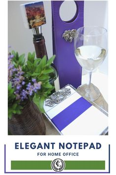 Make your home office an elegant retreat. The Classic Legacy notepad is embellished with a large silver medallion. We also create custom wine carriers and wine bottle stoppers with YOUR logo. Gifts For Wine Lovers, Wine Gifts, Custom Wine Bottles, Wine Carrier, Wine Bottle Stoppers, Home Office, Great Gifts, Table Decorations, Make It Yourself