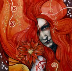 Acrylics, watercolor, pastel and graphite on paperboard, 6 x Patricia Ariel Sacred Feminine, Red Art, Color Art, Awesome Art, Contemporary Artists, Mixed Media Art, Graphite, Art Inspo, Painting & Drawing