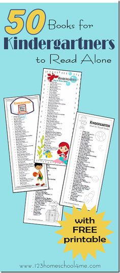 50 Books for Kidnergartners to Read Themselves Book Level 1.0-1.3