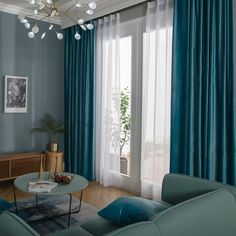 Voile Voile: Embrace the trend for soft lustrous velvet with these made to measure velvet microfiber teal blue curtains in your Free swatches, free tiebacks, shop online and save! Blue Velvet Curtains, Blue Curtains Living Room, Teal Curtains, Living Room Decor, Romantic Bedroom Decor, Farmhouse Bedroom Decor, Interior Room Decoration, Room Interior, Vanities
