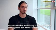 """There will be a 7'2"""" statue of Zlatan outside the Friends Arena in Stockholm."""
