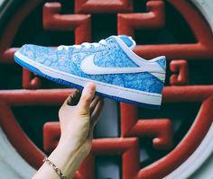 79c62aa42d53 Nike Dunk Low Premium SB Blue White Marble Skate Boarding Shoes 313170-401