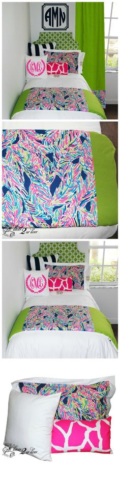 Lilly Multicolor Feathers Dorm & Teen Designer Bedding Set