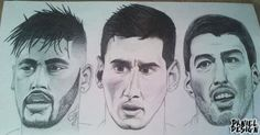 #football #draw #Neymar #Messi #Suarez