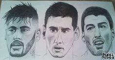 #football #draw #Neymar #Messi #Suarez