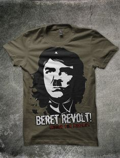 Beret Revolt - Change for Publicity  For all leftist - who could sense any difference between the murderers (Commies or Nazi)... Before you wear Che on try to think 'bout his crimes! The beret makes no disparity between the psychos! #tees #thinksters #design