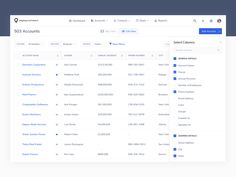 Accounts List View designed by Ashmita Bhattacharyya for Map My Customers. Connect with them on Dribbble; Data Table, Accounting Information, Admin Panel, Ui Elements, Show And Tell, Web Design Inspiration, Ui Design, Web Development, Product Design