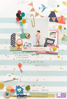 Life Layout Everyday Life Full Layout by Evelynpy American Crafts ShimelleEveryday Life Full Layout by Evelynpy American Crafts Shimelle Baby Scrapbook, Scrapbook Cards, Diy And Crafts, Paper Crafts, Scrapbook Page Layouts, Scrapbooking Ideas, Love Journal, Memory Album, Craft Night