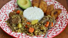 Erica Dinho Lentils and bacon is a dish that I've eaten all my life. When I lived in Colombia, my mom would make it at least once a week. It's very easy to prepare. First I like to cook the bacon until it's crispy and then I add the remaining ingredients, allowing the mix to cook slowly.  This lentil dish goes great with white rice, avocado and ripe plantains.