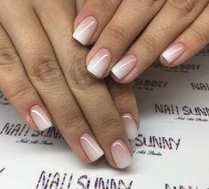 Wedding Nails-A Guide To The Perfect Manicure – NaiLovely Cute Nails, Pretty Nails, Short Square Nails, American Nails, Powder Nails, Nagel Gel, Perfect Nails, Halloween Nails, Red Nails