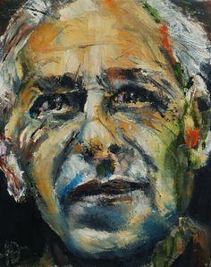 """Portrait of Hans Grundig, Oil on Canvas 10x8"""" © Copyright 2012 Alan Derwin"""