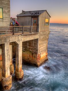 Old Pier on Cannery Row, Monterey, California