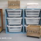 DIY laundry basket dresser