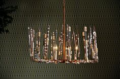 Grimaldi Iron and Beaded Cork Chandelier 3 Feet of Chain and 40W Bulb