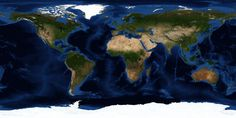 World's Monthly Global Images, Topographic & Bathymetric