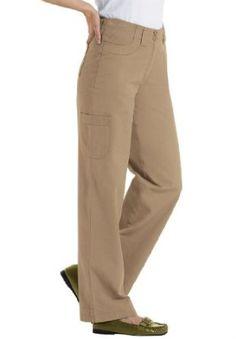 Woman Within Plus Size Freedom Twill Pants (Khaki,14 W) Woman Within. $24.99