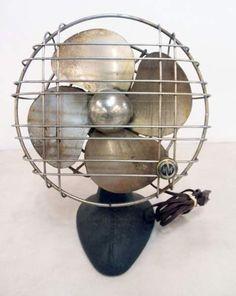 Antique Heavy Metal Montgomery Ward Fan
