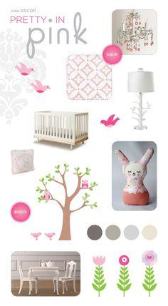 Decorating Ideas for a Pink Baby Nursery Nursery Room Decor, Girl Nursery, Girl Room, Kids Bedroom, Baby Room, Nursery Ideas, Boy Bedrooms, Bedroom Ideas, Pottery Barn Kids