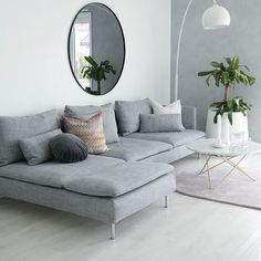We are in the midst of changing up things at home. In 2017 this family of 3 will become a family of joyful, but it has put some urgency on redoing the layout of our flat. We need an extra bedroo… diy Family room THE SöDERHAMN SOFA Minimalist Living Room, Living Room Decor Gray, Room Inspiration, Living Room Scandinavian, Living Room Designs, Soderhamn, Living Decor, Living Room Grey, Sofa Home