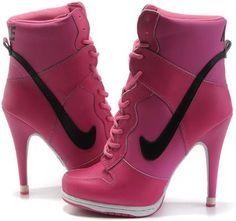 http://www.asneakers4u.com Nike Dunk SB High Heel Pink Black3