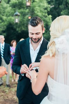 """We all watched Emily Maynard's search for love on The Bachelorette, but today it comes full circle. She found """"the one"""" post-show and a surprise celebration only seemed fitting. With guestsarriving at the Johnson family farm for what they believed to"""