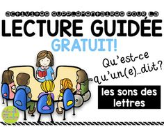 This FREEBIE is to celebrate my 400 followers milestone! It is a part of my Activits supplmentaires pour la lecture guide collection, and provides you with everything you need for a great, simple warm-up to your guided reading lessons. Perfect for those students still struggling with their letter sounds, the adorable clip art letter cards and animal cards will have your students actively making all kinds of sounds!