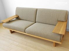 joystyle-interior | Rakuten Global Market: An amount of money changes by full cover ring sofa wooden sofa -3P sofa -SPOKE-LS net shop-limited original setting ※ material of the Japanese oak materials Japanese oak pure materials tree wooden frame!