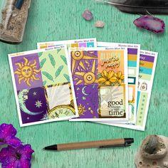 Mystic - Mini Planner sticker kit sheets) - for Happy Planner and Erin Condren Life Planner, Happy Planner, Permanent Marker, Gel Pens, Erin Condren, Sharpie, Planner Stickers, Mystic, Original Artwork
