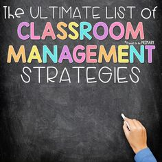 The ultimate list of classroom management strategies for the primary classroom directly from teacher Classroom Expectations, Classroom Rules, Classroom Behavior, Primary Classroom, School Classroom, Classroom Organization, Classroom Ideas, Classroom Procedures, Kindergarten Classroom