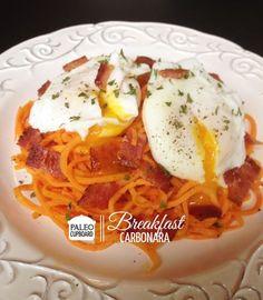 This Paleo Breakfast Carbonara recipe is a fun twist on the Italian favorite