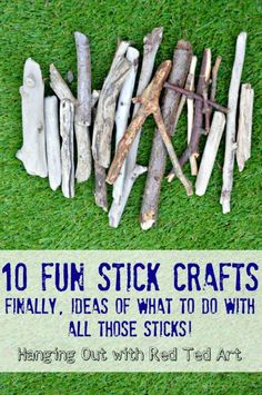 10 Stick Crafts - finally get crafty with all those sticks brought back from walks from Red Ted Art